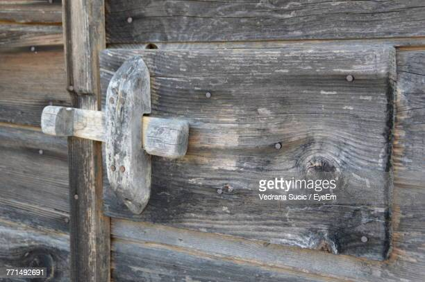 Close-Up Of Wooden Door