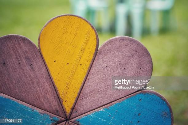 close-up of wooden equipment on field - metthapaul stock photos and pictures
