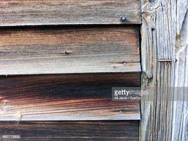 Close-Up Of Wooden Facade