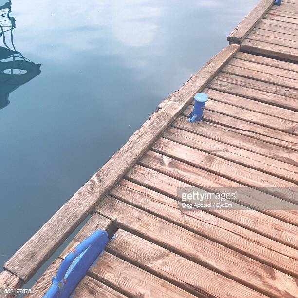 Close-Up Of Wooden Jetty