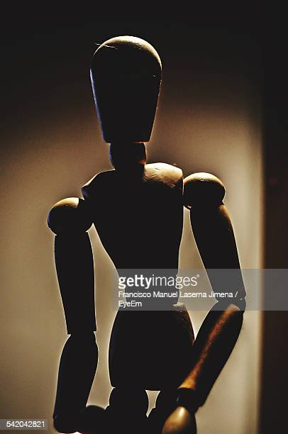 Close-Up Of Wooden Mannequin