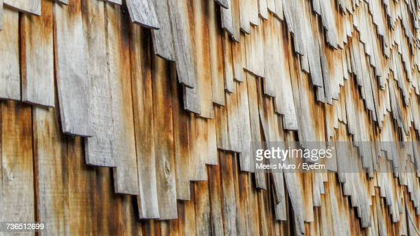 close-up of wooden roof - muro stock photos and pictures