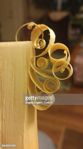 Close-Up Of Wooden Shavings