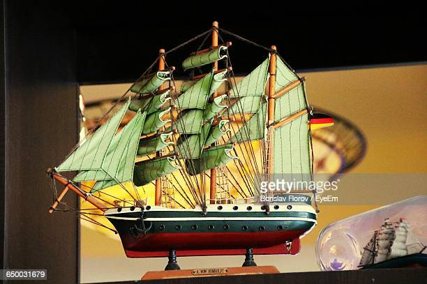 Close-Up Of Wooden Ship Model