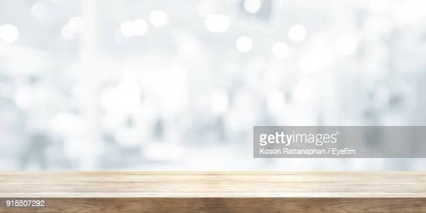 Close-Up Of Wooden Table Outdoors