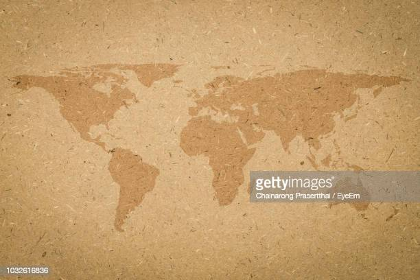 close-up of world map - world map stock photos and pictures