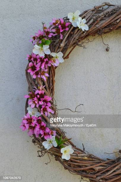 Close-Up Of Wreath Hanging On Wall
