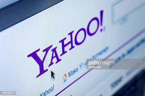 closeup of yahoo website - yahoo images search stock pictures, royalty-free photos & images