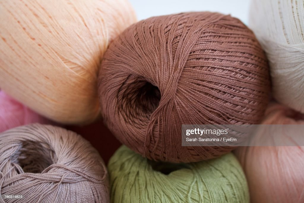 Close-Up Of Yarn Balls : Stock Photo