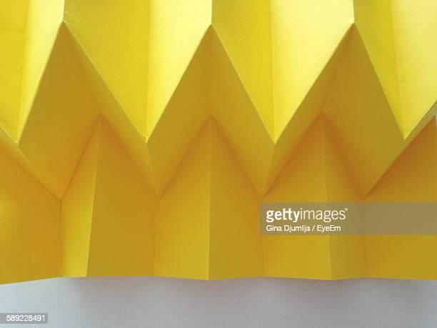 Close-Up Of Yellow Folded Paper