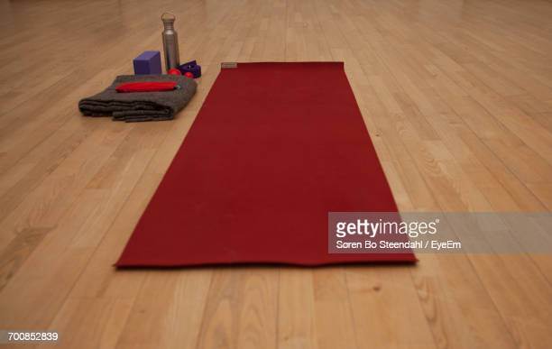 Close-Up Of Yoga Mat On Floor