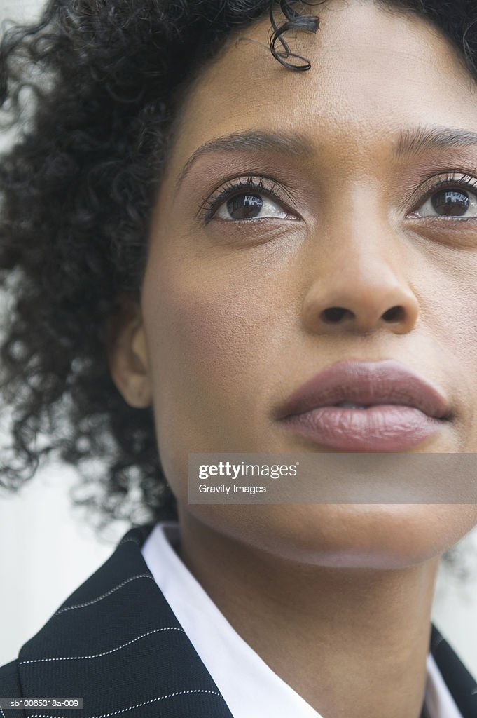Close-up of young business woman : Foto stock
