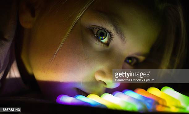 close-up of young girl - curiosity stock pictures, royalty-free photos & images