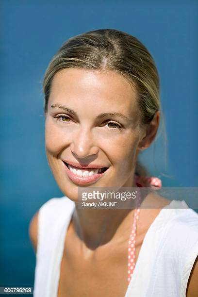 Close-up of young smiling woman