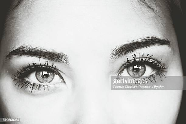 Close-up of young woman eyes