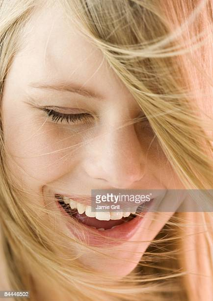 Close-up of Young Woman Laughing
