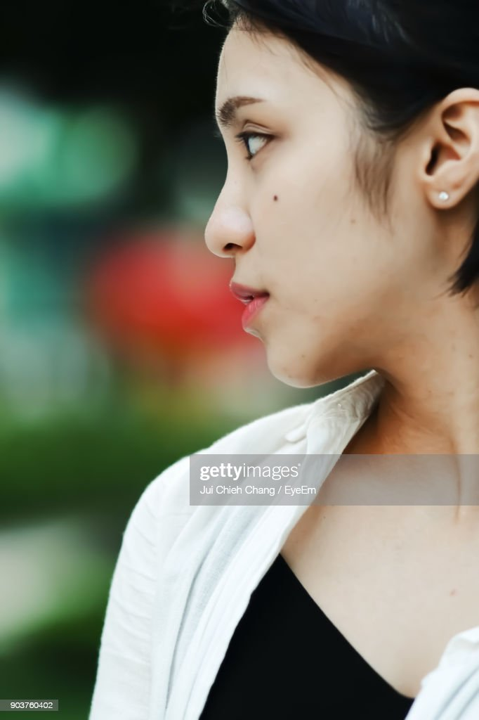 Close-Up Of Young Woman : Stock Photo