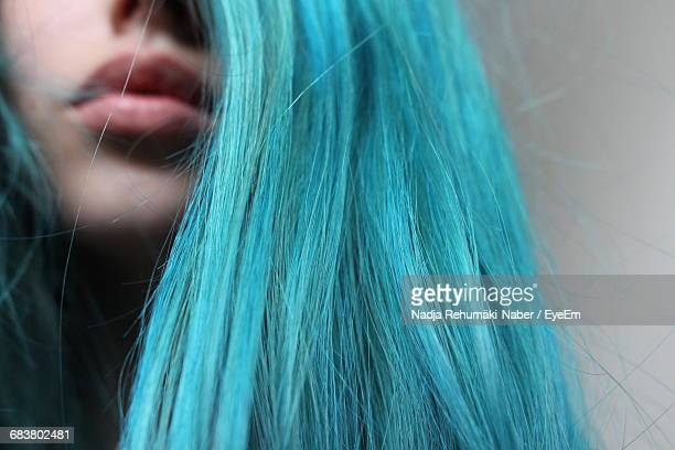 Close-Up Of Young Woman With Dyed Hair