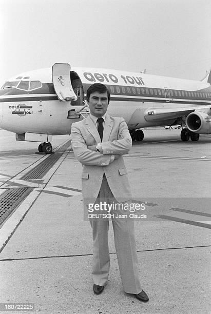 Close-up Of Yves Doare. Le 25 juin 1980, Yves DOARE, portrait du PDG de la première compagnie française privée de charters 'Aero tour', en...