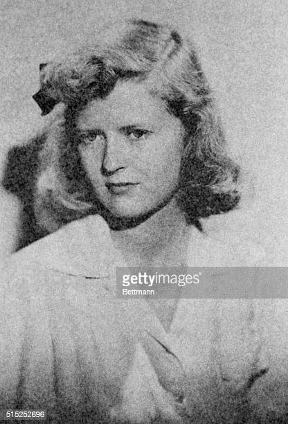 Closeup of Zelda Fitzgerald when she was a little girl She was the wife of F Scott Fitzgerald Undated photograph