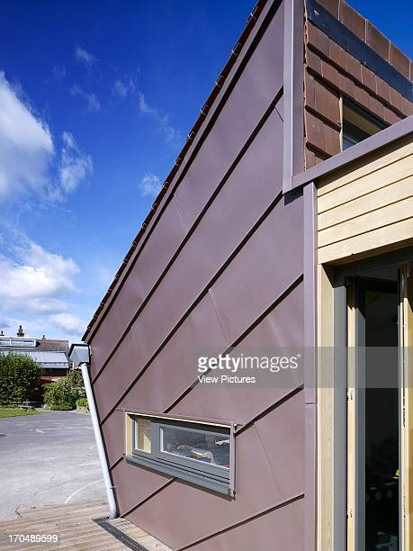 Closeup of zinc panels Dulwich Village Infant School London United Kingdom Architect Cazenove Architects 2012