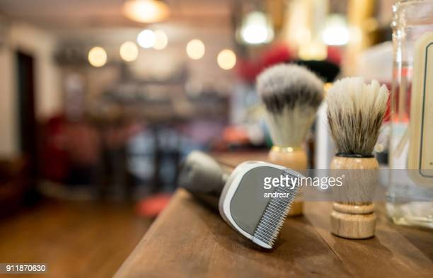 Close-up on a grooming kit for men