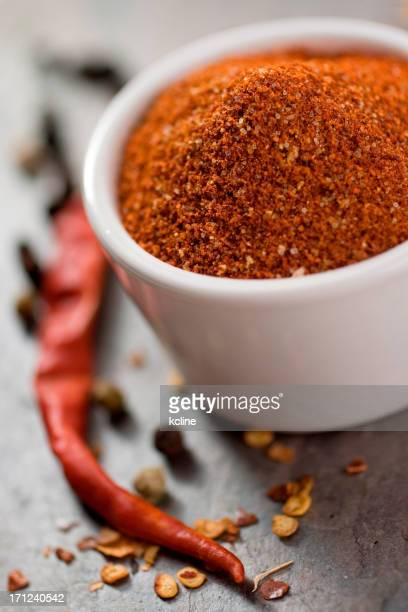 Closeup on a rich colorful spice rub