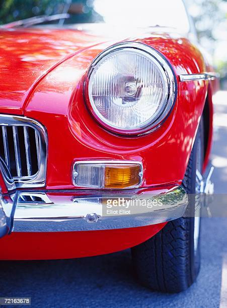Close-up on a sports car.