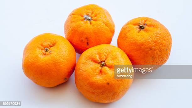 Close-up on Mandarin Oranges