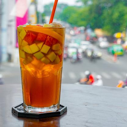 close-up on mix fruit juice ice - gettyimageskorea