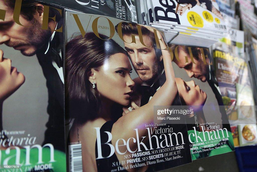 Victoria Beckham And David Beckham On Vogue French Issue, January/February 2014 : News Photo