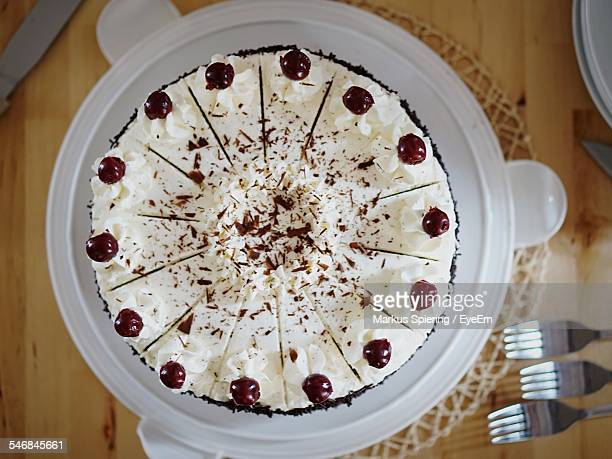 Close-Up Overhead View Of Cake