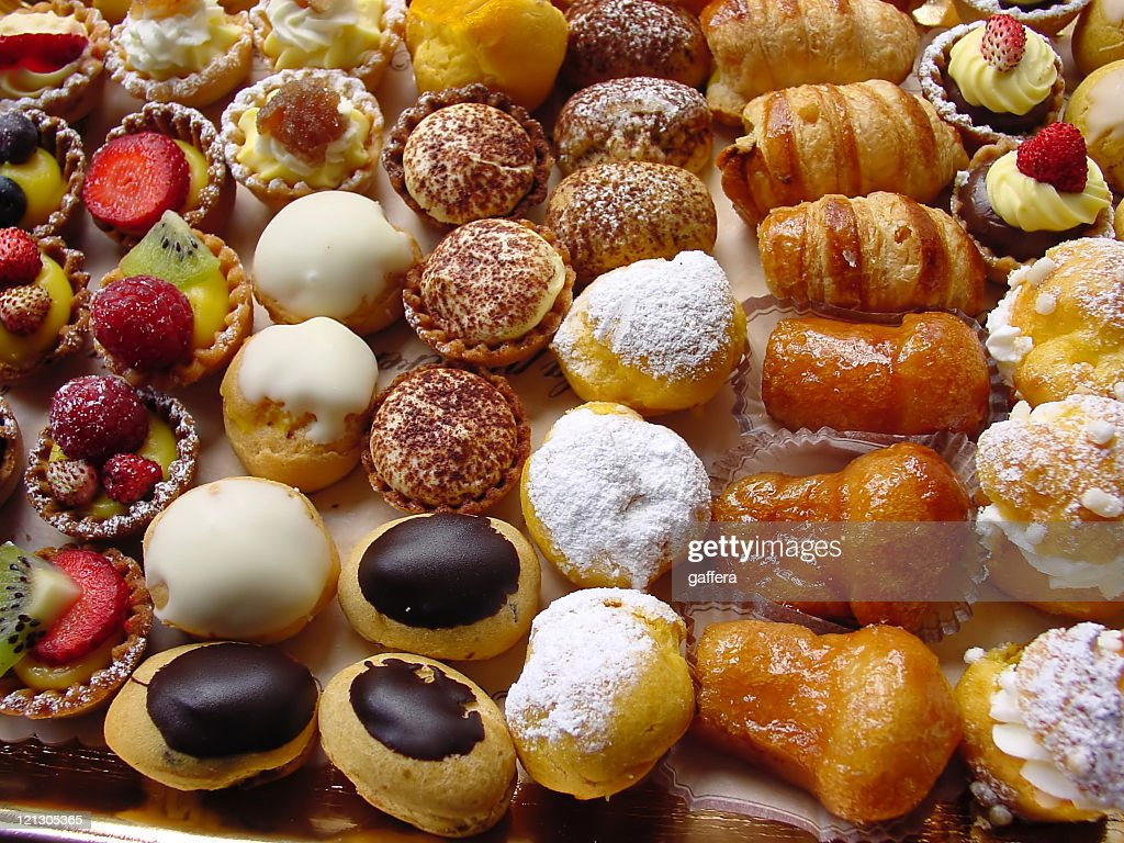 Close-up photo of delicious Italian pastries : Stock Photo