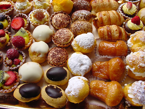 Close-up photo of delicious Italian pastries 121305365