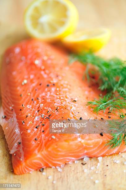 Filet de saumon cru