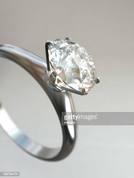 Close-up photograph of a diamond ring