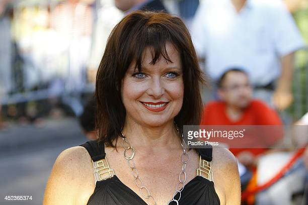 Closeup picture of Bavarian politician Gabriele Pauli on the red carpet Celebrities from politics sports and film came to Worms to see the premier of...