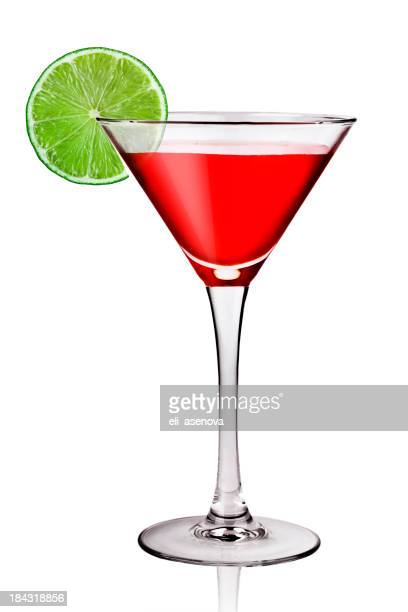 Closeup portrait of a cosmopolitan with a lime wedge on side
