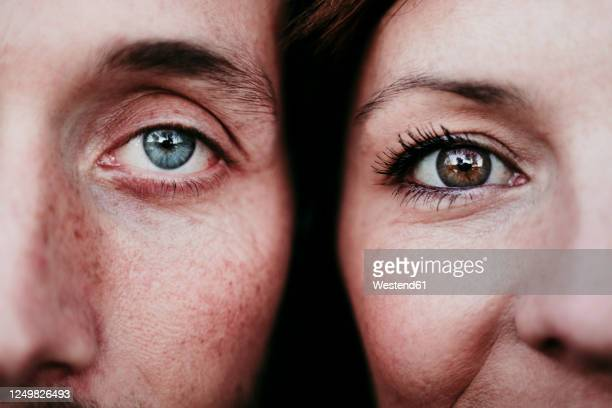 close-up portrait of a couple - close to stock pictures, royalty-free photos & images