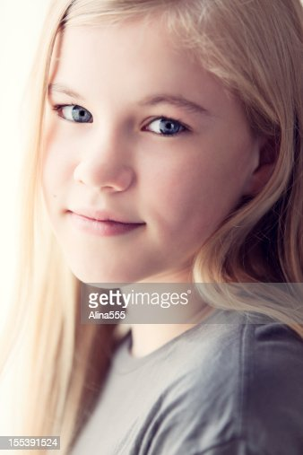11 Year Girl Bedroom Decoration Ideas: Closeup Portrait Of A Cute 11year Old Girl Stock Photo