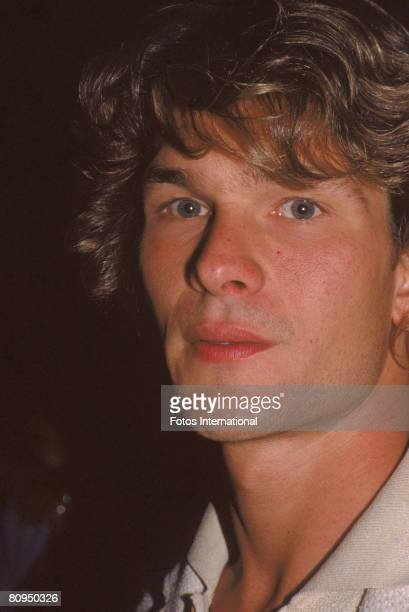 Closeup portrait of American actor Patrick Swayze as he attends 'Person to Person' magazine's launch party Los Angeles California October 1982