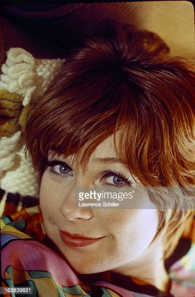 Closeup portrait of American actress Shirley MacLaine at her home Los Angeles California 1970