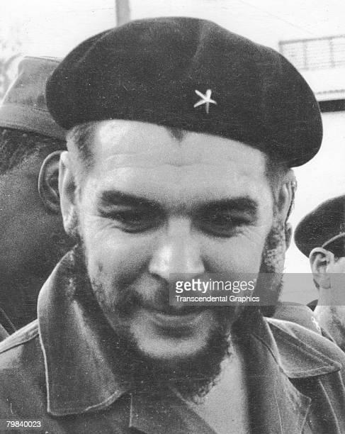 Closeup portrait of Argentineborn revolutionary politician and soldier Ernesto Guevara de la Serna commonly known as Che Guevara Havana Cuba 1959