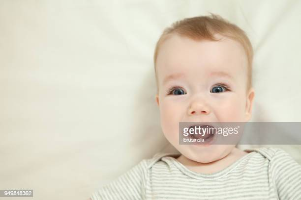 close-up portrait of baby boy - one baby boy only stock pictures, royalty-free photos & images