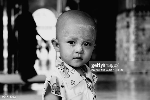 close-up portrait of boy - ko ko htike aung stock pictures, royalty-free photos & images