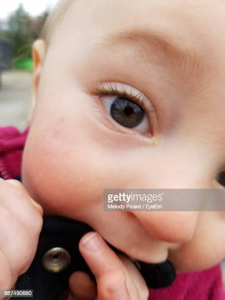 Close-Up Portrait Of Cute Baby Boy