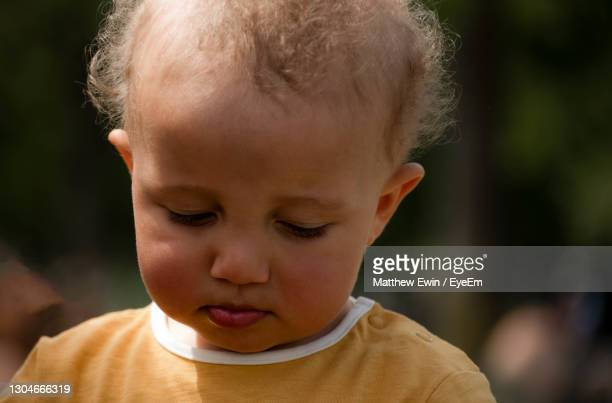 close-up portrait of cute boy - one baby boy only stock pictures, royalty-free photos & images