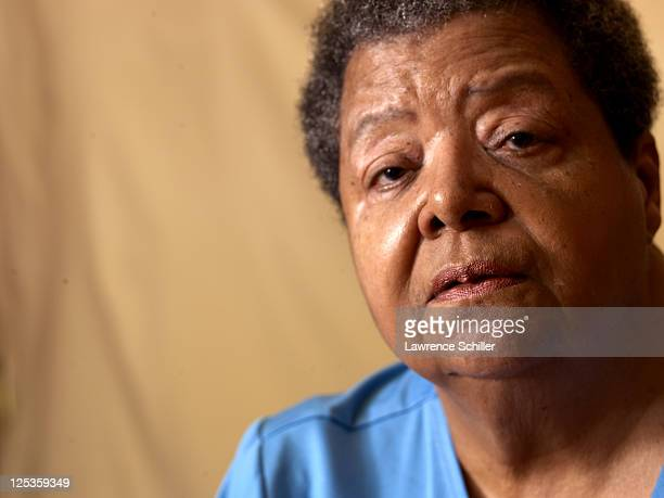 Closeup portrait of Elizabeth Eckford in her home Little Rock Arkansas March 6 2011 Eckford was one of the Little Rock Nine who after the landmark...