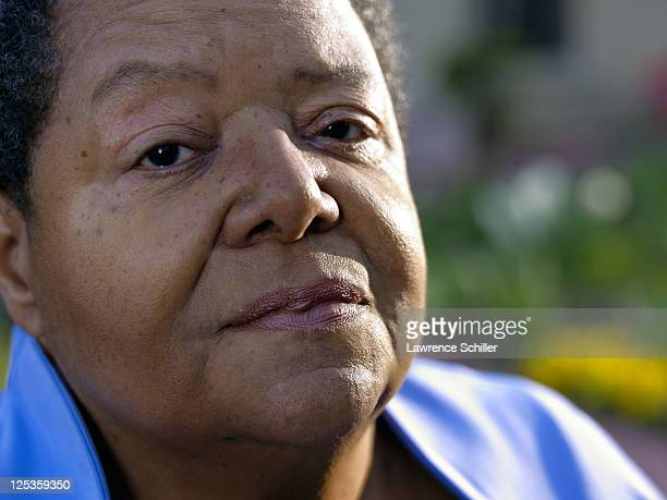 Closeup portrait of Elizabeth Eckford outside her home Little Rock Arkansas March 6 2011 Eckford was one of the Little Rock Nine who after the...