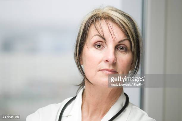 Close-Up Portrait Of Female Doctor
